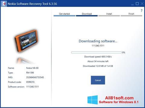 Screenshot Nokia Software Recovery Tool Windows 8.1