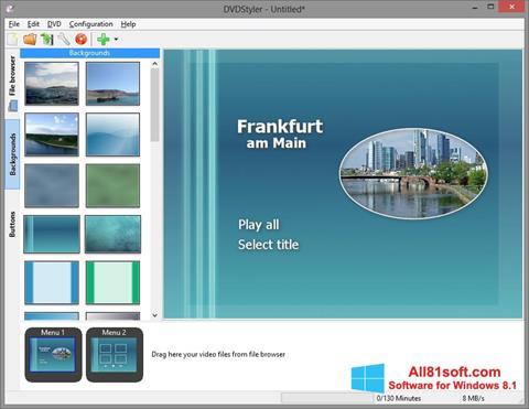 Screenshot DVDStyler Windows 8.1