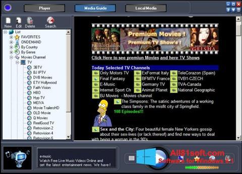 Screenshot Online TV Live Windows 8.1