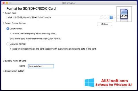 Screenshot SDFormatter Windows 8.1