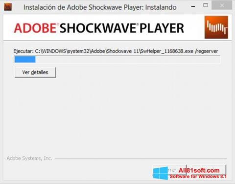 Screenshot Adobe Shockwave Player Windows 8.1