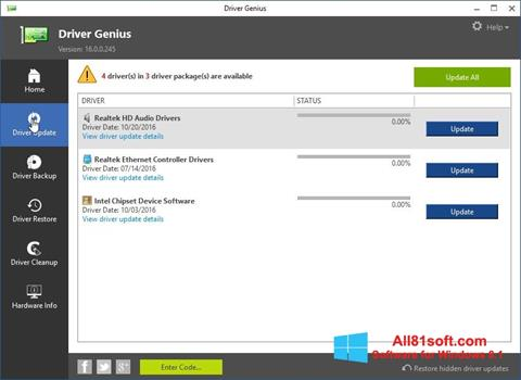 Screenshot Driver Genius Windows 8.1