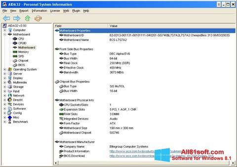 Screenshot AIDA32 Windows 8.1