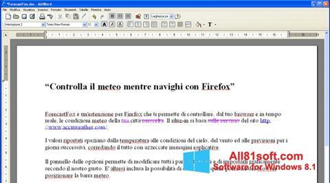 Screenshot AbiWord Windows 8.1