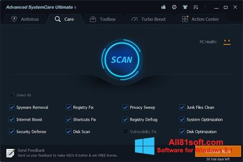 Screenshot Advanced SystemCare Ultimate Windows 8.1
