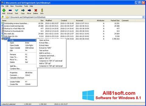 Screenshot 7-Zip Windows 8.1