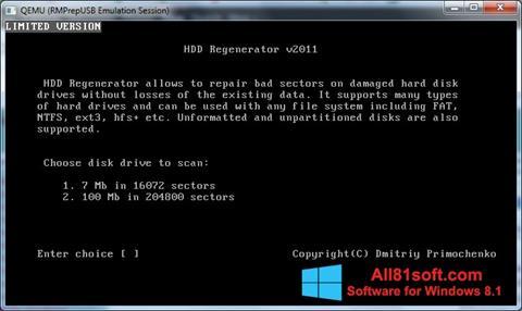 Screenshot HDD Regenerator Windows 8.1