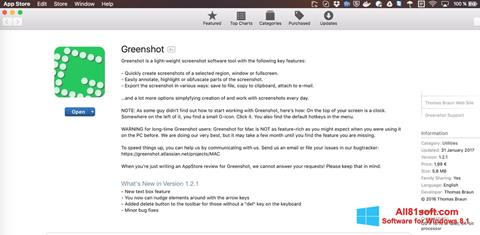 Screenshot Greenshot Windows 8.1