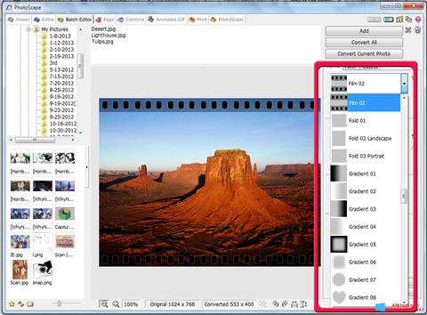 Screenshot PhotoScape Windows 8.1