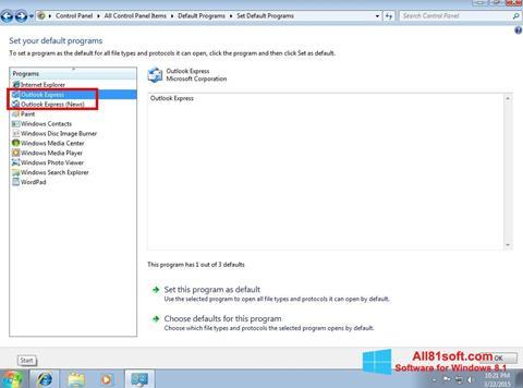 Screenshot Outlook Express Windows 8.1