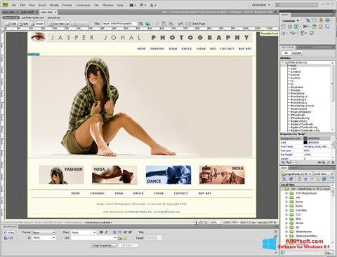 Screenshot Adobe Dreamweaver Windows 8.1