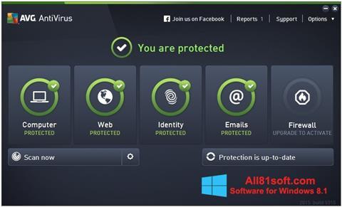 Screenshot AVG AntiVirus Pro Windows 8.1