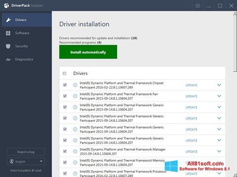 Screenshot DriverPack Solution Online Windows 8.1