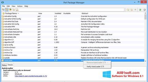 Screenshot ActivePerl Windows 8.1
