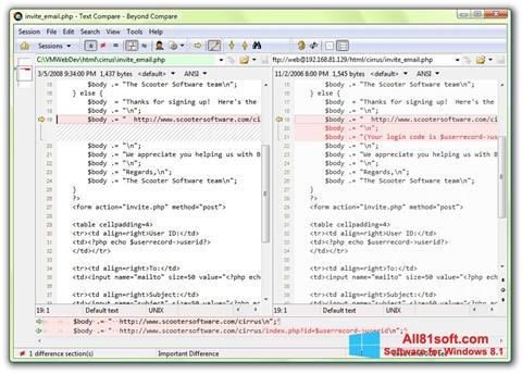 Screenshot Beyond Compare Windows 8.1