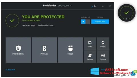 Screenshot Bitdefender Windows 8.1