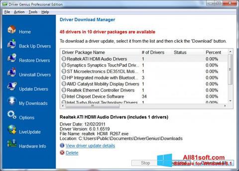 Screenshot Driver Genius Professional Windows 8.1