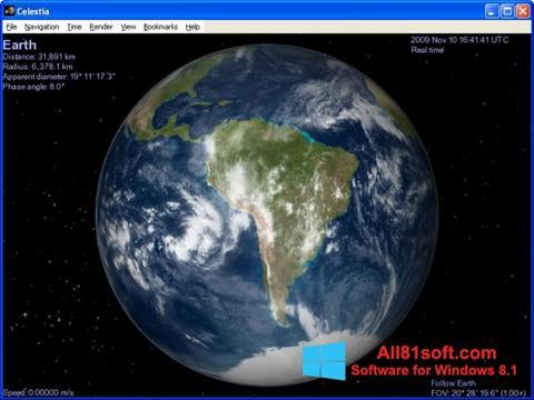 Screenshot Celestia Windows 8.1