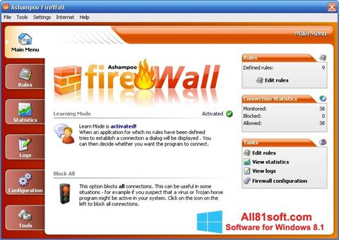 Screenshot Ashampoo Firewall Windows 8.1