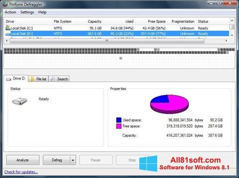 Screenshot Defraggler Windows 8.1