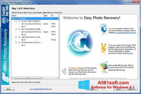 Screenshot Easy Photo Recovery Windows 8.1
