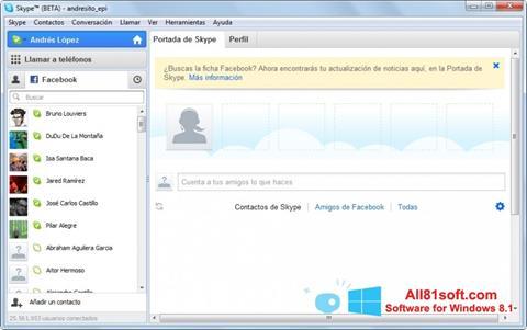 Screenshot Skype Beta Windows 8.1