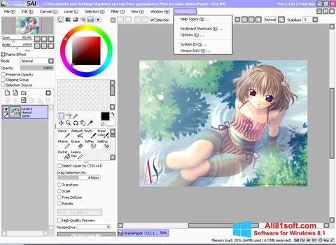 Screenshot Paint Tool SAI Windows 8.1