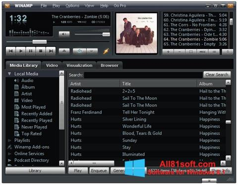 Screenshot Winamp Windows 8.1