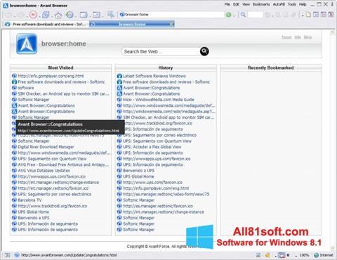 Screenshot Avant Browser Windows 8.1