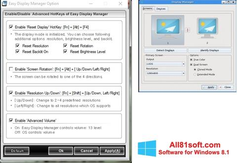 Screenshot Easy Display Manager Windows 8.1