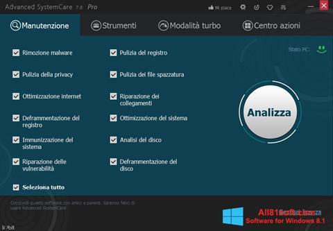 Screenshot Advanced SystemCare Pro Windows 8.1