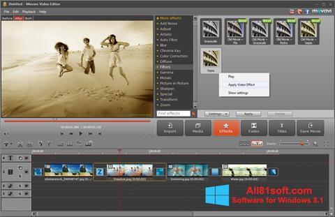 Screenshot Movavi Video Editor Windows 8.1