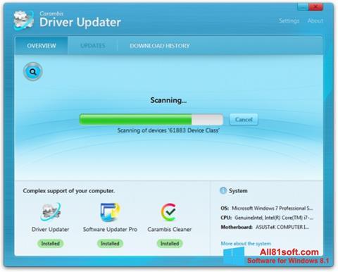 Screenshot Carambis Driver Updater Windows 8.1