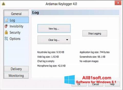 Screenshot Ardamax Keylogger Windows 8.1
